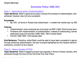 a level russian history essay plans A-level history revision material covering aspects of tsarist russia notes for model answers to sample essay questions.