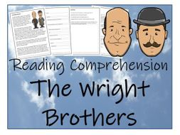 UKS2 History - The Wright Brothers Reading Comprehension Activity