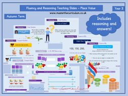 Year 3 - Editable Place Value Teaching Slides Fluency and Reasoning