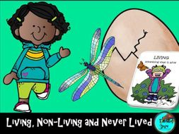 Living, Non-living and Never Lived - Worksheets, Posters