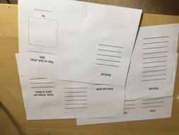 leaflet writing frame