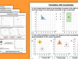 Year 5 Translation with Coordinates Summer Block 3 Maths Homework Extension