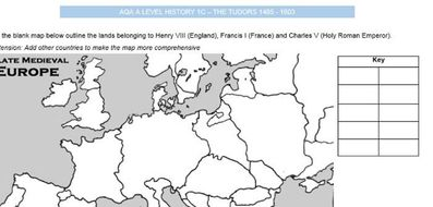 Map Of England Henry Viii.Aqa A Level History The Tudors 1c Henry Viii And Thomas Wolsey 38 Page Work Booklet