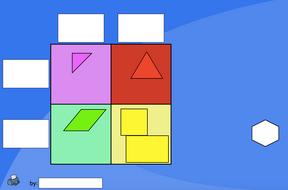 shape carroll diagram (blank) - interactive activity - ks1 geometry