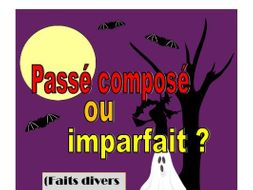 French Halloween News Stories - passé composé or imparfait?
