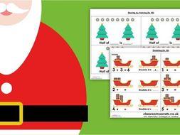 EYFS Mixed Maths Christmas Resource Pack