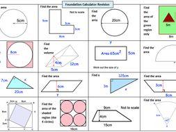 GCSE 9-1 Maths Foundation Revision - Common Calculator Topics