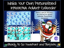 Advent Calendar Make Your Own Powerpoint And Template By