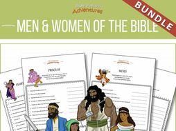 Men and Women of the Bible Quiz Activity Bundle