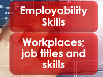 Employability/Work Skills: Workplaces/job titles or skills