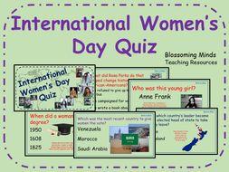 International Women's Day Quiz - 60 questions - History