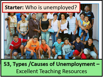 Economics: Lesson 53 - Types and Causes of Unemployment (seasonal, frictional etc ... )