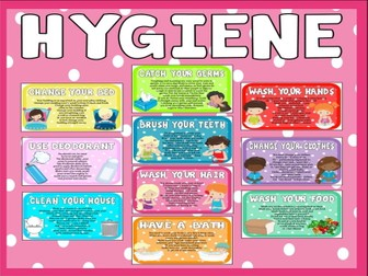 HYGIENE POSTERS TEACHING RESOURCES SCIENCE HEALTH KEY STAGE 1-2