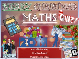 Maths Christmas Quiz 2019