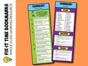 Technology : Fix-it Time Bookmarks (marking)