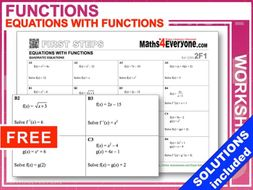 Functions leading to quadratic equations