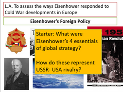US Cold War Policy in Europe 1954-1960
