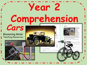 Year 2 reading comprehension - Cars