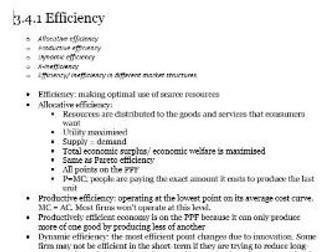 Edexcel A-level Economics Unit 3.4 Market Structures