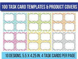 100 Editable Task Card Templates Clip Art Flash