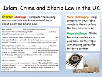 Islam: Sharia Law