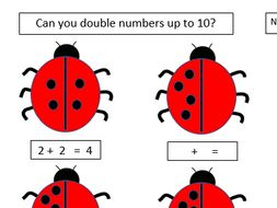 Mini-beasts Maths - Doubling and Halving