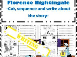 Florence Nightingale life story Writing - Sequence write colour retell the story
