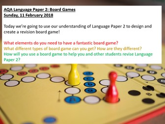 AQA English Language Paper 2 Revision - Board Game