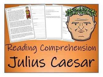 UKS2 History - Julius Caesar Reading Comprehension Activity