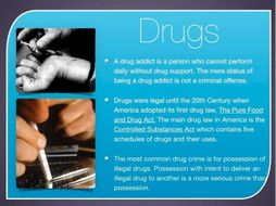 Drugs & Alcohol Law ~ Criminal Law ~ Federal & State Law + Quiz + Flashcards ~ 70 Slides