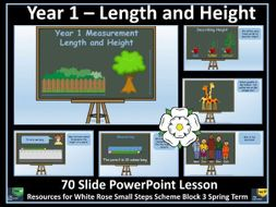 Length and Height PowerPoint Lesson - Year 1 - White Rose
