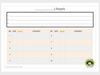 Ten-Week Target Chart, Blank