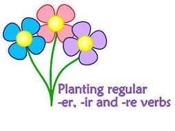 FRENCH ~ Planting regular French -er, -ir- and -re verbs BUNDLE