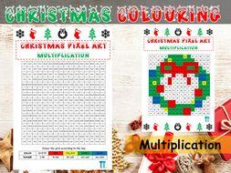 Christmas maths GCSE revision on multiplication