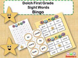 Dolch Sight Words Bingo - First Grade
