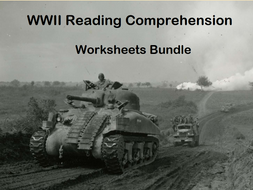 WWII Reading Comprehension Worksheets Bundle (SAVE 40%)