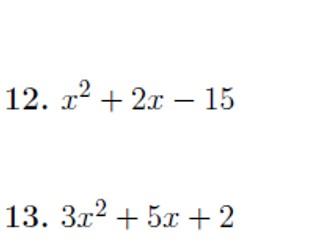 Factorising quadratics worksheet no 5 (with solutions)