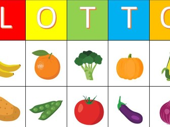 Lotto Game Fruit and Vegetables