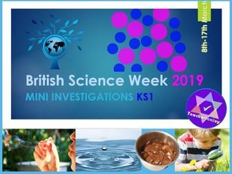 British Science Week 2019 KS1 Mini Investigations