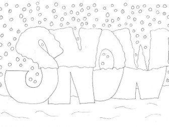 christmas and seasons colouring sheet snow by sarah277 teaching resources tes