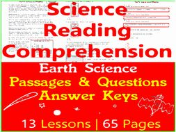 Earth Science Reading Comprehension Passages & Questions | Bundle | Grade 3-4