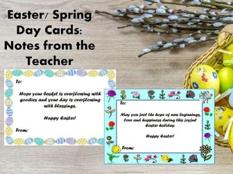 Easter Cards: Notes from the Teacher