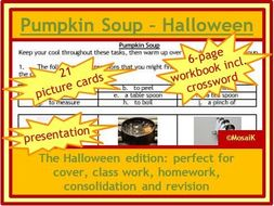 Food Tech Cooking Pumpkin Soup at Halloween