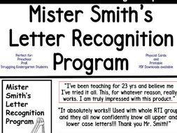 Mister Smith's Letter Recognition Program (flashcards
