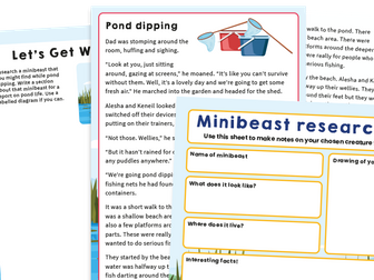 Y2 SATs Practice Pack: Pond Dipping