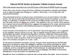 Anne Frank Diary Analysis Model Answer - for Edexcel IGCSE or other GCSE boards.