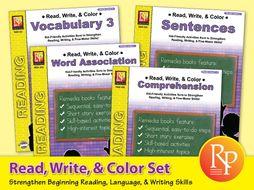 Read, Write, & Color Set