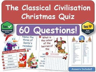 Classical Civilisation  Christmas Quiz!