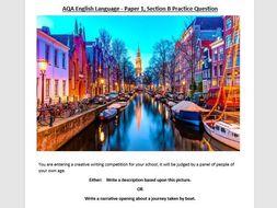 AQA English Language Paper 1 - Section B practice exams