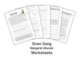 Siren Song - Margaret Atwood - Worksheet